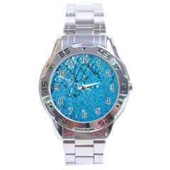 Surface Grunge Scratches Old Stainless Steel Analogue Watch