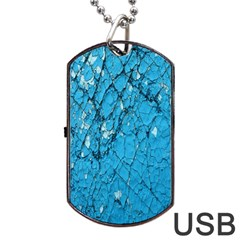 Surface Grunge Scratches Old Dog Tag Usb Flash (two Sides)