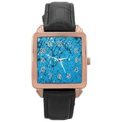 Surface Grunge Scratches Old Rose Gold Leather Watch