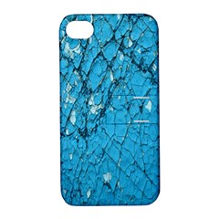 Surface Grunge Scratches Old Apple iPhone 4/4S Hardshell Case with Stand