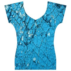 Surface Grunge Scratches Old Women s V-Neck Cap Sleeve Top