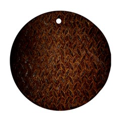 Texture Background Rust Surface Shape Ornament (round)