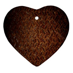 Texture Background Rust Surface Shape Ornament (heart)