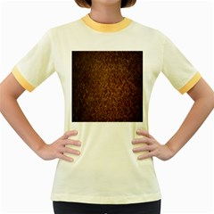 Texture Background Rust Surface Shape Women s Fitted Ringer T-Shirts