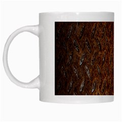 Texture Background Rust Surface Shape White Mugs