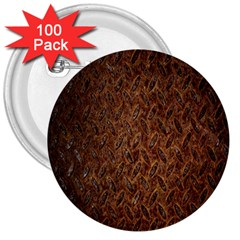 Texture Background Rust Surface Shape 3  Buttons (100 Pack)