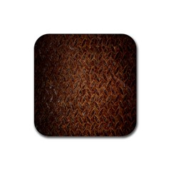 Texture Background Rust Surface Shape Rubber Square Coaster (4 pack)