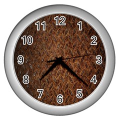 Texture Background Rust Surface Shape Wall Clocks (silver)