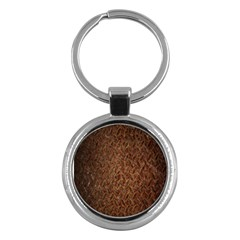 Texture Background Rust Surface Shape Key Chains (Round)