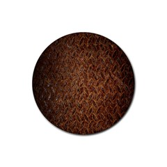 Texture Background Rust Surface Shape Rubber Coaster (round)