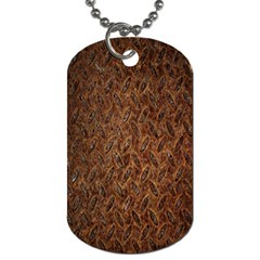 Texture Background Rust Surface Shape Dog Tag (two Sides)