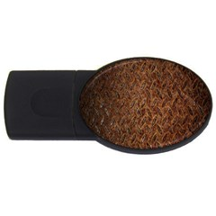Texture Background Rust Surface Shape USB Flash Drive Oval (1 GB)