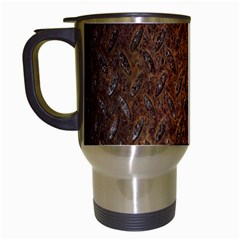 Texture Background Rust Surface Shape Travel Mugs (White)