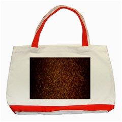 Texture Background Rust Surface Shape Classic Tote Bag (red)