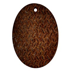 Texture Background Rust Surface Shape Oval Ornament (two Sides)