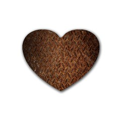 Texture Background Rust Surface Shape Rubber Coaster (heart)