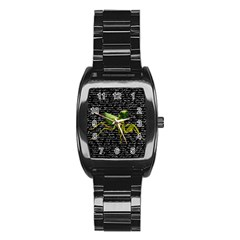 Mantis Stainless Steel Barrel Watch