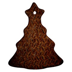 Texture Background Rust Surface Shape Christmas Tree Ornament (Two Sides)