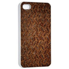 Texture Background Rust Surface Shape Apple iPhone 4/4s Seamless Case (White)