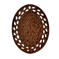 Texture Background Rust Surface Shape Ornament (Oval Filigree)
