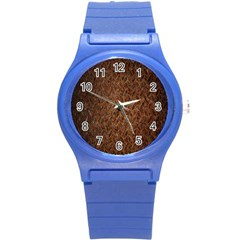 Texture Background Rust Surface Shape Round Plastic Sport Watch (S)