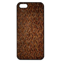 Texture Background Rust Surface Shape Apple iPhone 5 Seamless Case (Black)