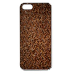 Texture Background Rust Surface Shape Apple Seamless iPhone 5 Case (Clear)
