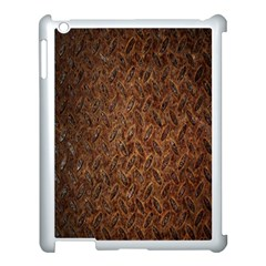 Texture Background Rust Surface Shape Apple iPad 3/4 Case (White)
