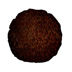 Texture Background Rust Surface Shape Standard 15  Premium Round Cushions
