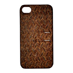 Texture Background Rust Surface Shape Apple iPhone 4/4S Hardshell Case with Stand