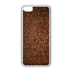 Texture Background Rust Surface Shape Apple iPhone 5C Seamless Case (White)