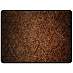 Texture Background Rust Surface Shape Double Sided Fleece Blanket (Large)