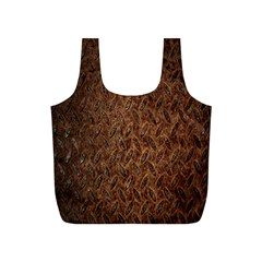 Texture Background Rust Surface Shape Full Print Recycle Bags (S)