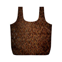 Texture Background Rust Surface Shape Full Print Recycle Bags (M)