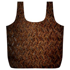 Texture Background Rust Surface Shape Full Print Recycle Bags (L)