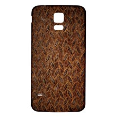 Texture Background Rust Surface Shape Samsung Galaxy S5 Back Case (White)
