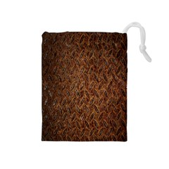 Texture Background Rust Surface Shape Drawstring Pouches (Medium)