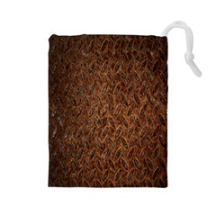 Texture Background Rust Surface Shape Drawstring Pouches (Large)