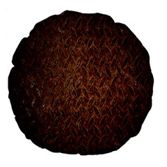 Texture Background Rust Surface Shape Large 18  Premium Flano Round Cushions