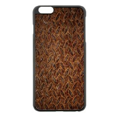 Texture Background Rust Surface Shape Apple iPhone 6 Plus/6S Plus Black Enamel Case