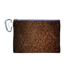 Texture Background Rust Surface Shape Canvas Cosmetic Bag (M)
