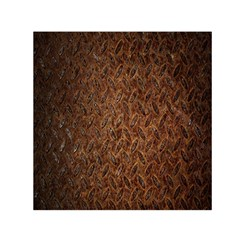 Texture Background Rust Surface Shape Small Satin Scarf (Square)