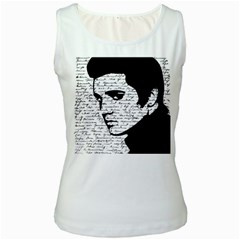Elvis Women s White Tank Top