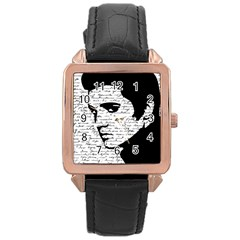 Elvis Rose Gold Leather Watch