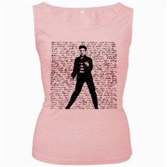 Elvis Women s Pink Tank Top