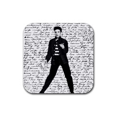 Elvis Rubber Square Coaster (4 pack)