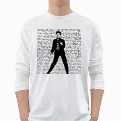 Elvis White Long Sleeve T-Shirts