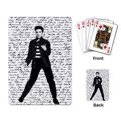 Elvis Playing Card