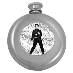 Elvis Round Hip Flask (5 oz)