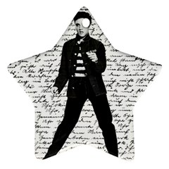 Elvis Star Ornament (Two Sides)